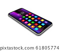 All screen smartphone with colorful icon set 61805774