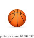 Basketball ball. Vector illustration isolated on 61807697