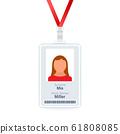 ID Card Design Template, Identification card. 61808085