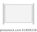 Fence wire metal chain link. Prison barrier, 61808338