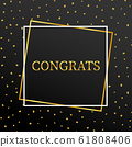 Gold congrats in gold frame with black and gold 61808406