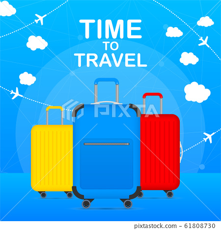 Time to Travel Tourism Poster Concept Front View 61808730