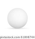 Golf ball isolated on white Vector illustration. 61808744