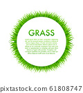 Circle With Grass, Frame. Vector stock 61808747