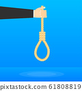 Rope hanging loop. Suicide and business. Tightens 61808819