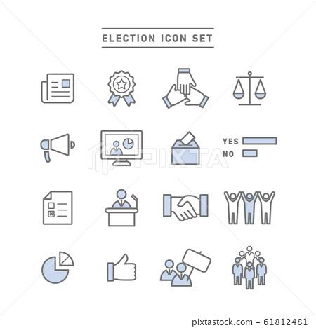 選舉 圖標 Icon 61812481