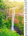 Chamarel Waterfall in lush tropical greenery of Mauritius, Indian Ocean 61813567