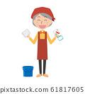 청소 대청소 여성 주부 집안일 청소 걸레 양동이 수석 할머니 노인 여성 61817605