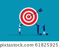 Team Business holding with big target. vector illustration 61825925