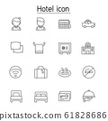 Hotel icon set in thin line style 61828686
