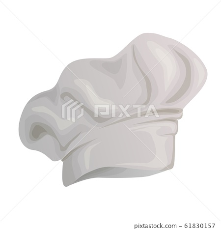 Cook hat white icon on background. 61830157