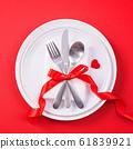 情人节 餐厅 盘子 顶视图 大餐 Valentine's Day Plate バレンタイン 61839921