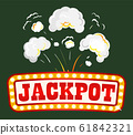 Jackpot Banner with Explosion, Fume and Smoke 61842321