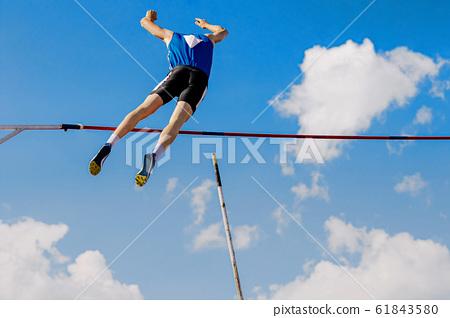 athlete pole vaulter successful attempt 61843580
