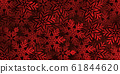 Dark red background with large red snowflakes. 61844620