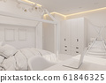 The interior design girl playroom and bedroom in the Scandinavian style 61846325
