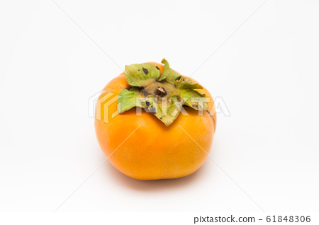 Fresh Persimmon isolated on white 61848306