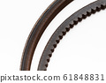 Old Rubber Gear belts for the car engine to Change new 61848831