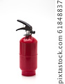 Red fire extinguisher on white background 61848837