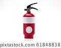 Red fire extinguisher on white background 61848838