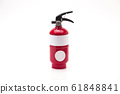 Red fire extinguisher on white background 61848841