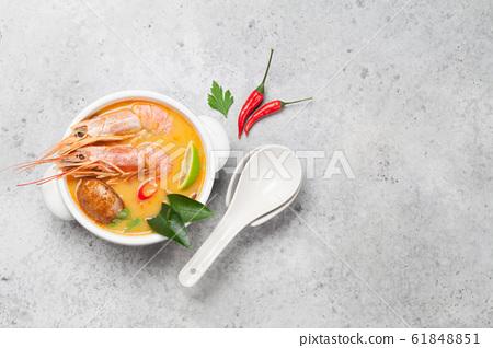 Tom Yum traditional Thai soup 61848851