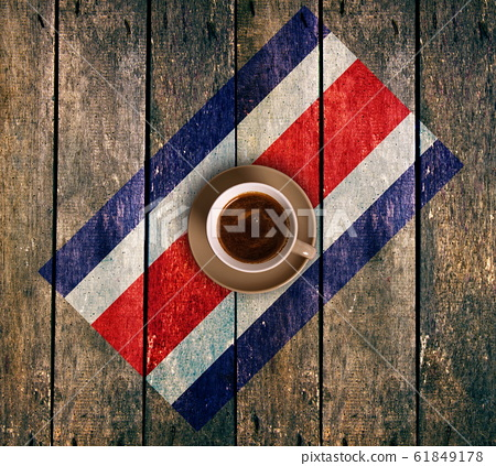 Cup of coffee with the flag 61849178