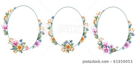 Flower Oval Frame Design