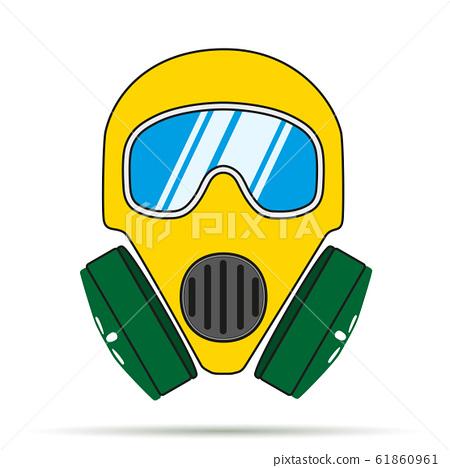 Gas mask flat icon 61860961