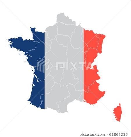 法國國旗地圖圖標 61862236