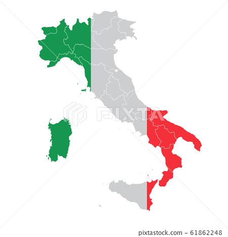 意大利國旗地圖圖標 61862248