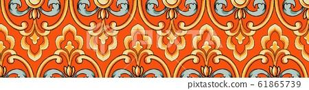 優雅美麗的佩茲利和抽象復古元素 61865739