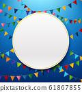 Blank circle with rainbow colorful celebration 61867855