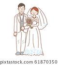 신랑 신부 그림 웨딩 신부 61870350
