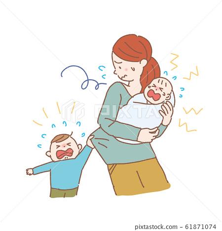 완오뻬 여성 육아 육아 노이로제 일러스트 산후 우울증 61871074