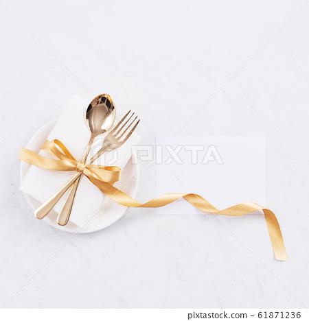 情人節 餐廳 盤子 頂視圖 大餐 Valentine's Day Plate バレンタイン 61871236