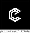 simple CE, CG, EC, GC initials company logo 61875054