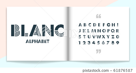 Modern font and alphabet set. Lettering Design for magazine, poster, logo or advertising media. 61876587