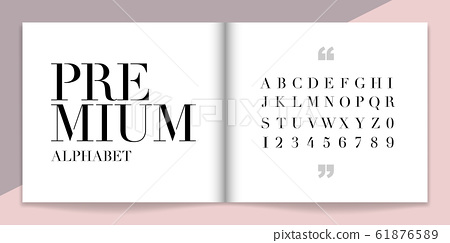 Elegance font and alphabet set. Lettering Design for magazine, poster, logo or advertising media. 61876589