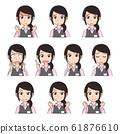 女性上班族辦公室表情姿勢情感集 61876610