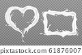 Milk splash frames rectangle and heart shape set 61876907