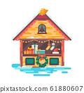 Christmas Market illustration. 61880607