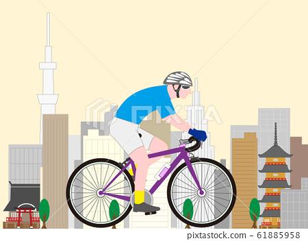 자전거 경기의로드 레이서 61885958