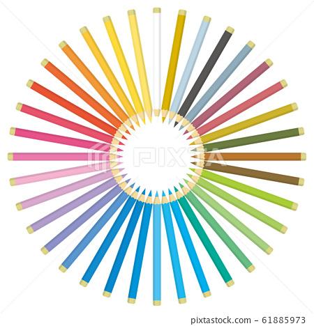Color pencil circle 61885973
