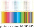 Colored pencil line 61885985