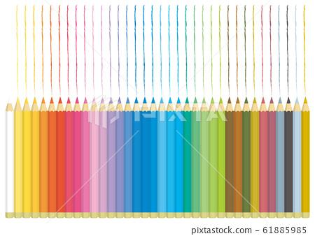 彩色的鉛筆線 61885985