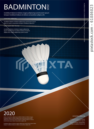 Badminton Championship Poster Vector illustration 61886823