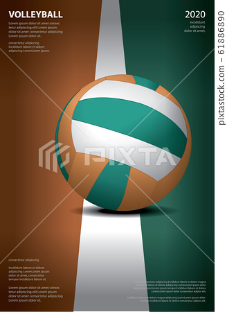 Volleyball Tournament Poster  Template Design Vector Illustration 61886890
