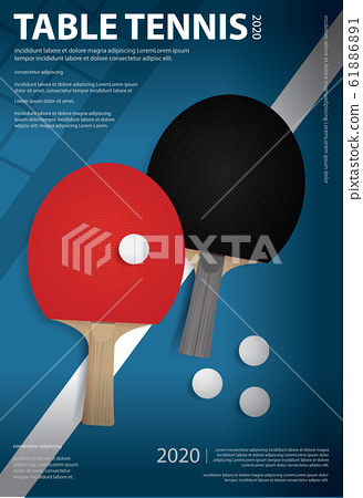 Pingpong Poster Template Vector Illustration 61886891