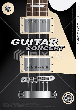 Guitar Concert Poster Background Template Vector Illustration 61886896